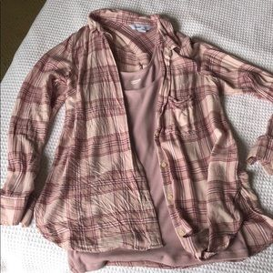 Old Navy Flannel Top w/ undershirt